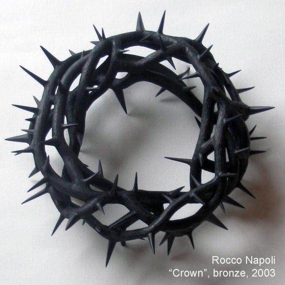 CROWN Sculpture, 27 cm in diameter, bronze, metal casting work, 2003.