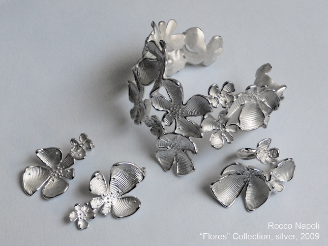 FLORES COLLECTION Silver 950, metal casting work, one of a kind, 2009.
